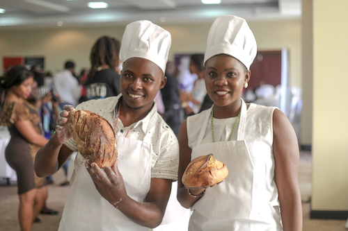 Jastan and Joey, the founders of Sweet n' Sourdough Bakery, Kenya